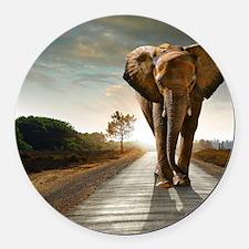 Big Elephant Round Car Magnet
