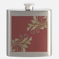 Gold Leaf Pillow Flask