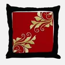Gold Leaf Pillow Throw Pillow