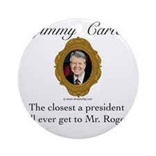 Jimmy Carter Round Ornament