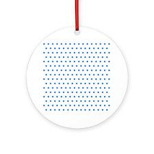 Blue Polka Dot Round Ornament