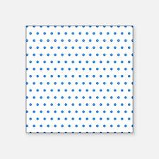 """Blue Polka Dot Square Sticker 3"""" x 3"""""""