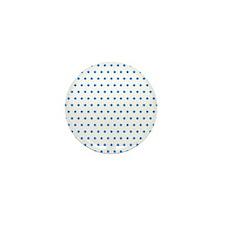 Blue Polka Dot Mini Button