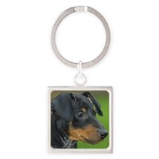 Manchester Terrier 9B085D-07_2 Square Keychain