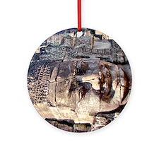 Bayon Crematorium Stone Buddha Round Ornament