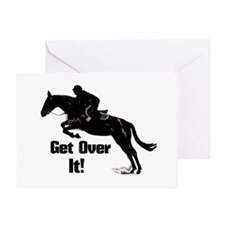 Get Over It! Horse Jumper Greeting Card