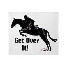 Get Over It! Horse Jumper Throw Blanket
