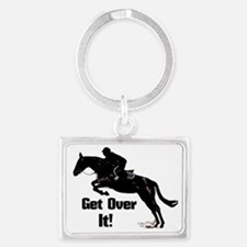 Get Over It! Horse Jumper Landscape Keychain