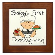 Baby Girl First Thanksgiving Framed Tile