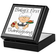 Baby Girl First Thanksgiving Keepsake Box