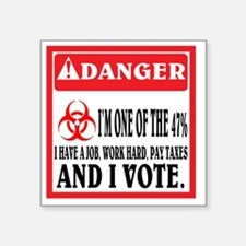"""One of the 47%. Square Sticker 3"""" x 3"""""""