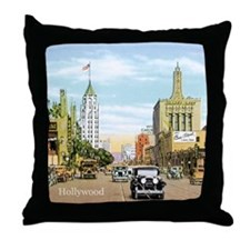 Vintage Hollywood Throw Pillow