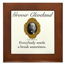 Grover Cleveland Framed Tile
