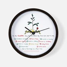 12 Days of Christmas Wall Clock