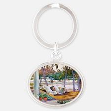 horiz24 Oval Keychain