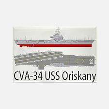 USS Oriskany CVA-34 Rectangle Magnet