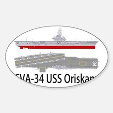 USS Oriskany CVA-34 Sticker (Oval)
