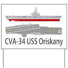 USS Oriskany CVA-34 Yard Sign