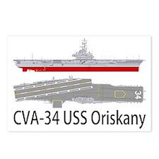 USS Oriskany CVA-34 Postcards (Package of 8)