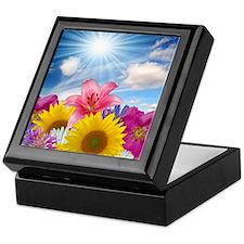 Flower Field Keepsake Box
