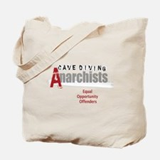 Cave Diving Anarchists (round) Tote Bag
