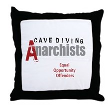 Cave Diving Anarchists (round) Throw Pillow