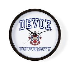 DEVOE University Wall Clock