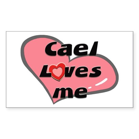 cael loves me Rectangle Sticker