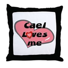 cael loves me  Throw Pillow