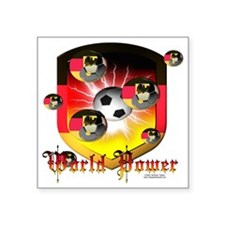 "German World Power Square Sticker 3"" x 3"""