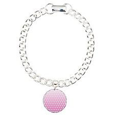 Pink White Polka Dot Bracelet