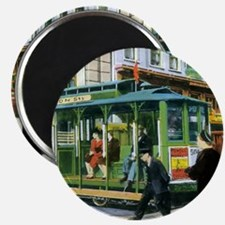 Vintage San Francisco Cable Car Magnet