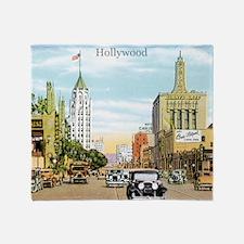 Vintage Hollywood Throw Blanket