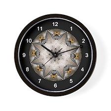 Metal Inlay Wall Clock