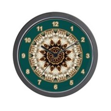 Simple Green Kitchen Wall Clock
