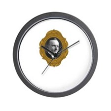Calvin Coolidge White Wall Clock