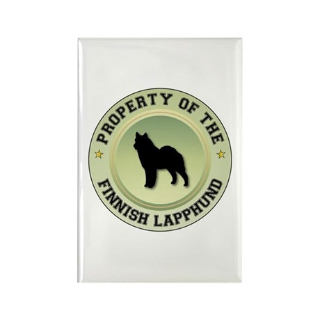 Lapphund Property Rectangle Magnet