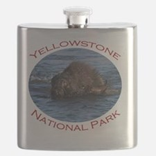 Yellowstone National Park...Bison Swimming Flask