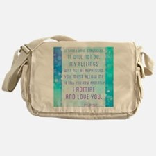 Darcy Quote Messenger Bag