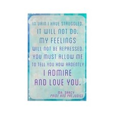Darcy Quote Rectangle Magnet