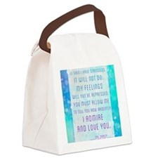 Darcy Quote Canvas Lunch Bag