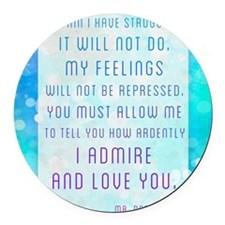 Darcy Quote Round Car Magnet