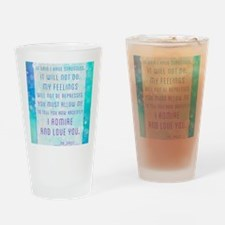 Darcy Quote Drinking Glass