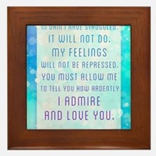 Darcy Quote Framed Tile