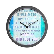 Darcy Quote Wall Clock