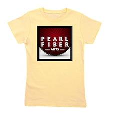 Pearl Fiber Arts square logo Girl's Tee