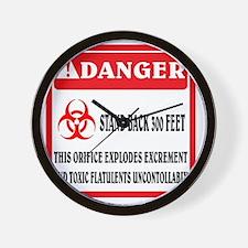 Biohazard orifice Wall Clock