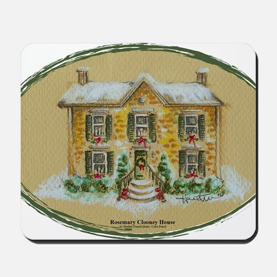 Rosemary Clooney House Color Pencil Oval Mousepad