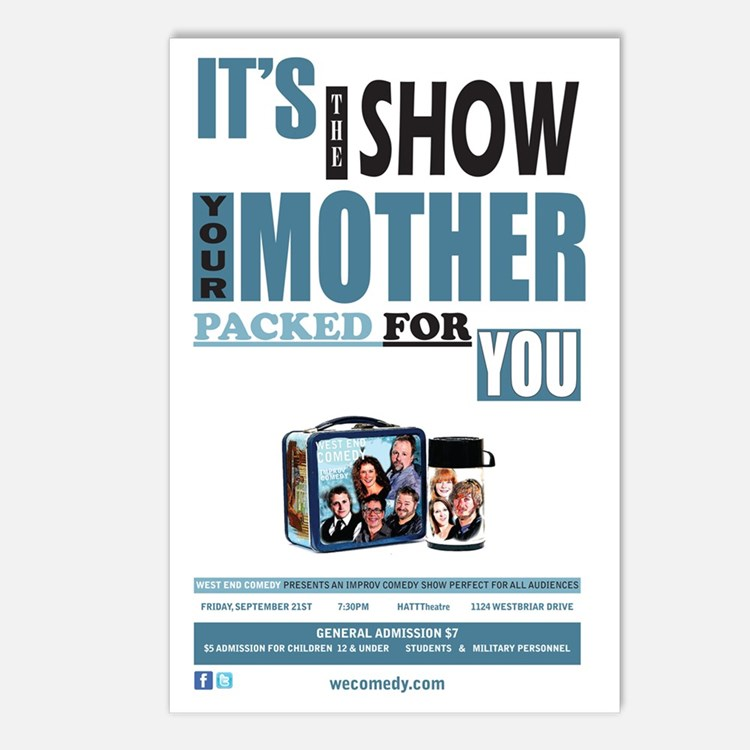 The Show Your Mom Packed Postcards (Package of 8)