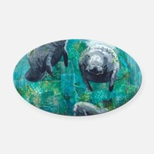 Three Sisters Oval Car Magnet